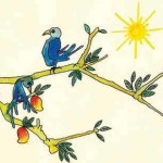 TWO BIRDS ON A TREE